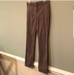 LOFT Pants - LOFT Marisa skinny gray velvet pants